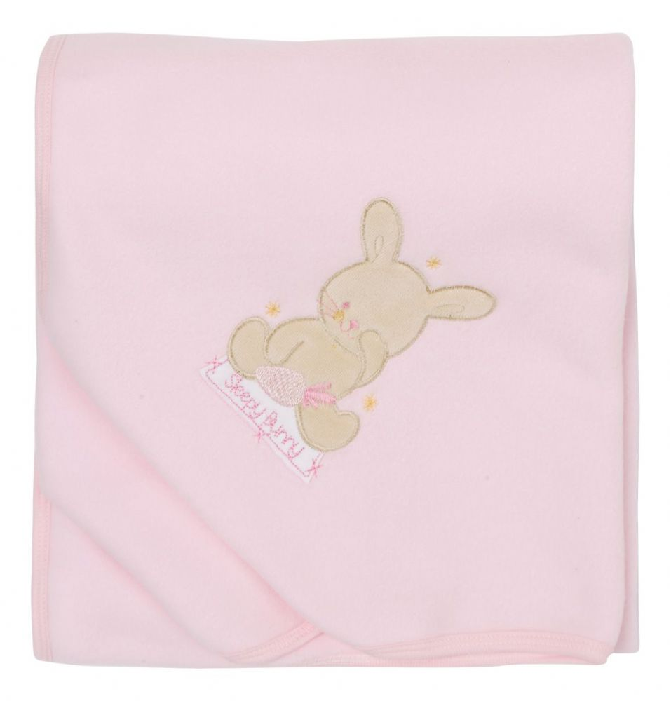 B109 Pink Fleece Baby Cuddle Wrap